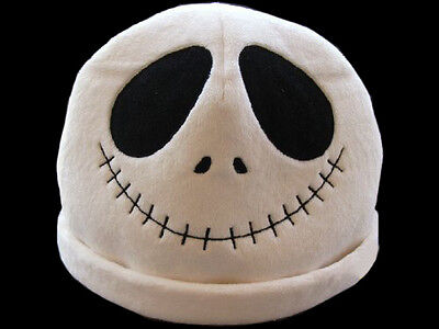 The Nightmare before Christmas Jack Plush Hat Fit Costume - White Skull Hat