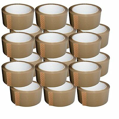 144 x Strong Quality Packing Parcel 50mm x 66 M Rolls- BIG BROWN BUFF TAPE