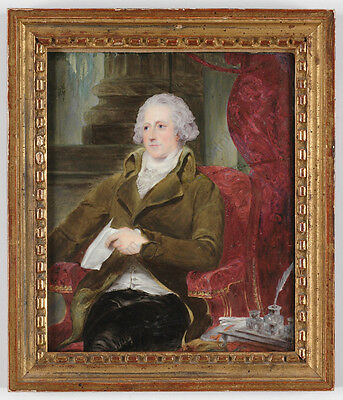 "Henry Bone (1755-1834) ""Lord William Eden"", Outstanding Enamel Miniature!!"