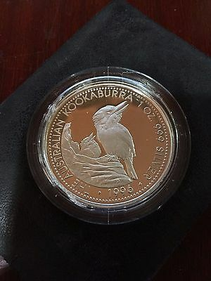1996 The Australian Kookaburra First Proof Set 1 Ounce Of Silver