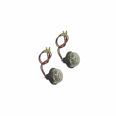 Complete Indicator Fairing Round Flush Mount with Clear Lens & Bulb (Pair)