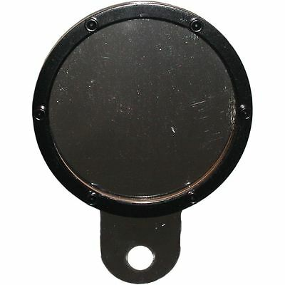 Tax Disc Holder Round Black Rim 6 Studs Silver Backing