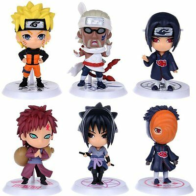 Anime Naruto Set 6 pcs Figures Collection Uzumaki Uchiha Madara PVC Dolls