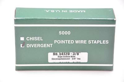 "Duo-Fast  5412D 3/8"" Div. Point Staple, Galv. 1 case of 25 bxs. (Made by Zeb)"