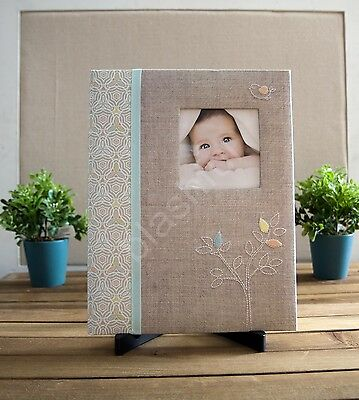 CR Gibson THE LINEN TREE Baby Boy Girl Gender Neutral Memory Keepsake Book