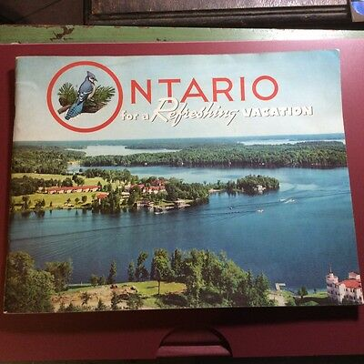 Vintage Vacation Booklet For Ontario, 1950's