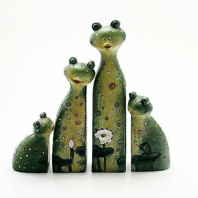 New Interlocking Jigsaw Cuddling Frog Family Ornament  Xmas Gift Idea