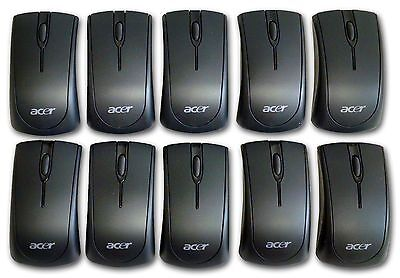 Lot of 10 Acer Wireless Mouse w/ Batteries AAA IR MG-0570T Infared Black 2.4G