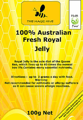 Australian Fresh Royal Jelly 100g FREE GIFT When you spend $25 or more
