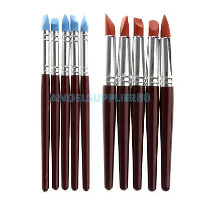 5pcs Clay Sculpture Tool Silicon Color Shaper/Brushes for Sculpture Pottery A