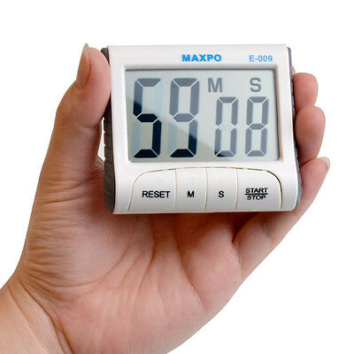 Large LCD Display Digital Kitchen Cooking Timer Count Up Down Alarm Clock