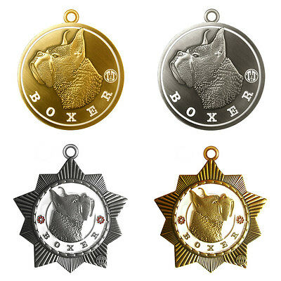 """Boxer Dog Id Tag 1.5"""" diameter. Limited edition 3D tag"""