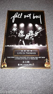 Fall Out Boy Live In Phoenix Promotional  Poster  RARE