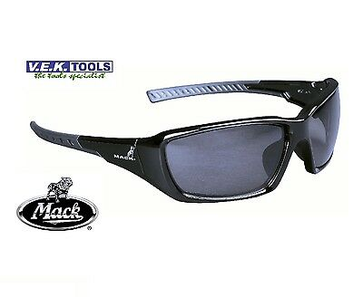 MACK FLYER TRADESMANS SAFETY SUN GLASSES-SMOKE LENS-Market Leader-ORIGINAL