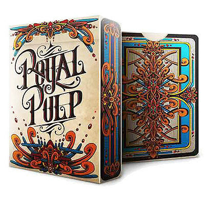 Royal Pulp Deck - Red - Playing Cards - Magic Tricks - New
