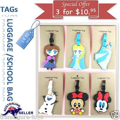 Travel Luggage Baggage School name label Tag Name ID Suitcase Bag Frozen Minion