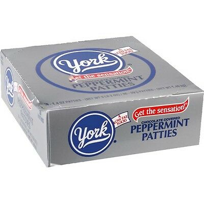 York Peppermint Patties Mint covered in dark chocolate candy 1.4 oz patty 36 ct