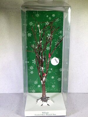 Boxed Dept Department 56 Village Frosted Bare Branch Tree
