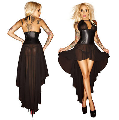 "Kleid Rückenfrei Wetlook transparent Tüll Abendkleid S M L XL 2XL 3XL ""Joelle"""