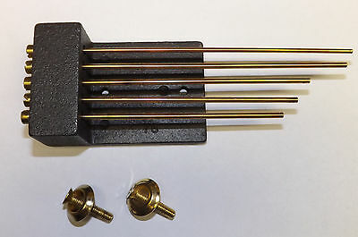 Chime Rod Block Set for Mantel Clock NEW 5 Rods Westminster Gong