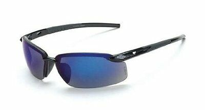 2c993c588ea Crossfire 2968 ES5 Safety Glasses Blue Mirror Lens - Shiny Black Frame  12-Pack