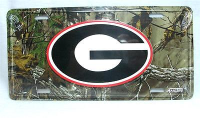 "Camo Georgia License Plate Car Truck Tag Bulldogs ""G"" Logo Football Man Cave"