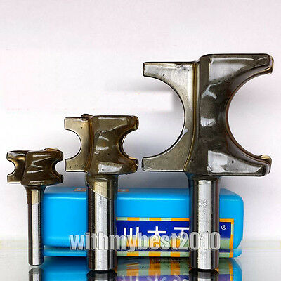 """Bull nose Router Bits 1/4 & 1/2 Shank 1/4""""- 2"""" Dia Half Round Side Cutters"""