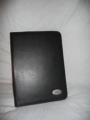Black Faux Leather A4 Zipped Work Business Style Conference Portfolio