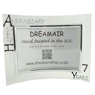 Personalised 7 Year Wedding (Wool) Anniversary Frame (L) (Blk/Sil)