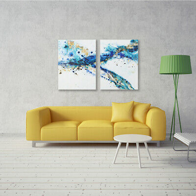 Hand-Painted Oil Painting - Splashing | Modern Abstract Decor Unframed Wall Art