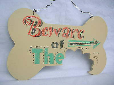 Wooden Beware Of The Wall Sign Plaque