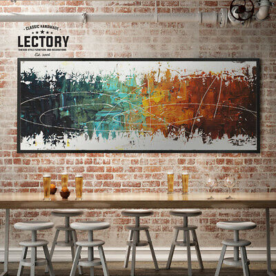 Hand-Painted Oil Painting - Reaction | Modern Abstract Decor Unframed Wall Art
