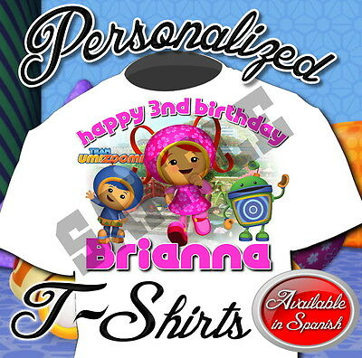 NEW CUSTOM PERSONALIZED Team Umizoomi GIRL BIRTHDAY T SHIRT PARTY FAVOR ADD NAME
