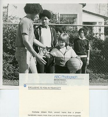 Adam Rich Plays Basketball With Friends Eight Is Enough Orig 1980 Abc Tv Photo