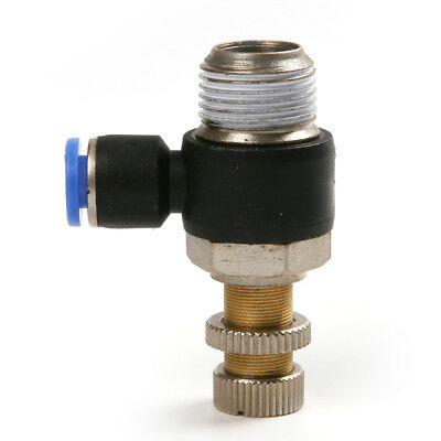 Pneumatic Air Flow Speed Control Restrictor Valve Connector Push In Fittings