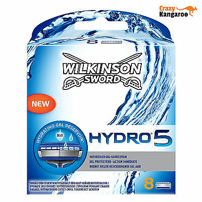 New Genuine Wilkinson Sword Hydro 5 Blades Pack of 8 (Hydro5P8)