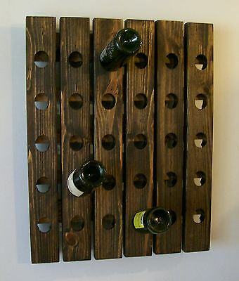 Riddling Rack Wine Rack Wood Wall Hanging Handmade
