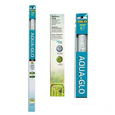 Hagen Aqua Glo T8 Fluorescent Light Bulb Tube Fish Tank Aquarium Lighting