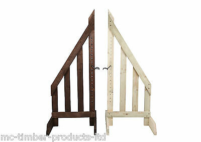 6ft pair Show jump Wings pressure treated wood with pair of cups Made in UK
