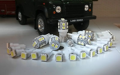 Land Rover Defender Wolf Military Instruments Clock & Warning lights LED White