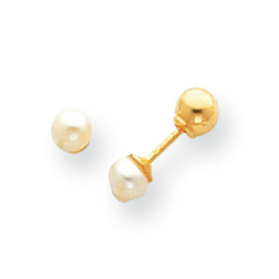 f6c747a79 14K Yellow Gold 4mm FCW Pearl Reversible Ball Stud Earrings Madi K Kid's  Jewelry