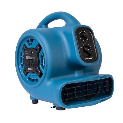 XPOWER P-230AT 1/5 HP 3 Speed Mini Air Mover Carpet Dryer Floor Fan Blower