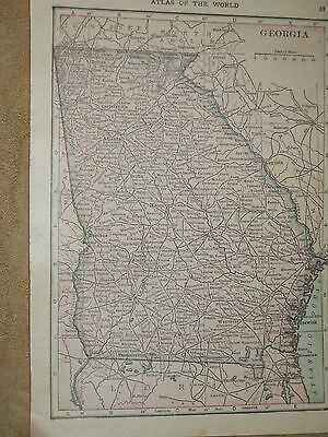 1910 Original  MAP FLORIDA / GEORGIA    USA  FREE SHIPPING