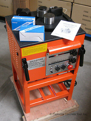 "CCT Electric Rebar Bender with Metal Stand RB-258A for upto 1"" #8 Rebar -NEW"
