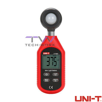 UNI-T UT383 Lux Luminometer Lux Light Meter Data Logging TESTER LUMINOSITà LUCE