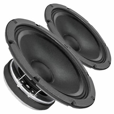 """Pair Faital Pro 8FE200 4ohm 8"""" 95dB Woofer Midbass Voice Replacement Speaker"""