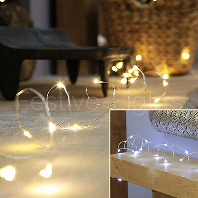 4.5M Indoor Micro Silver Wire Christmas Wedding Decor Fairy String 50 Led Lights
