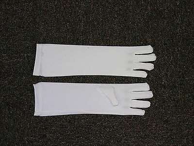 Long White Child Costume Gloves