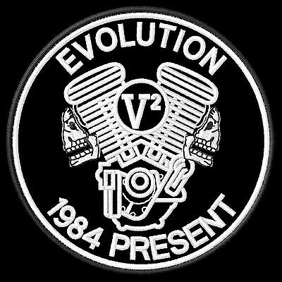 Evolution V2 Big Twin Patch 1984 Present Panhead Shovelhead Softail Biker Kutte