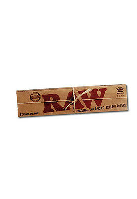 25 Booklets RAW King Size Slim Classic Rolling Papers Natural Hemp Gum unrefined